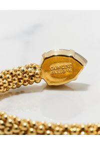 CAROLINE SVEDBOM - Bransoletka z kryształem Greige. Materiał: złote. Kolor: złoty. Kamień szlachetny: kryształ