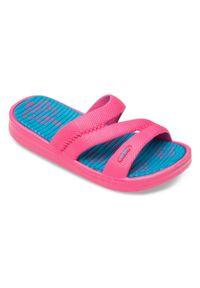 LANO - Klapki dziecięce basenowe Lano KL-2-1322 Różowe. Okazja: na plażę. Kolor: różowy. Materiał: guma