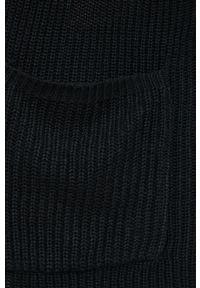 Vila - Kardigan. Okazja: na co dzień. Kolor: czarny. Długość rękawa: długi rękaw. Długość: długie. Styl: casual
