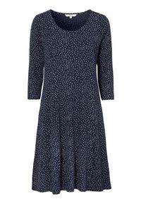 Niebieska sukienka Cellbes w kropki, elegancka