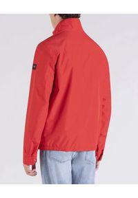 PAUL & SHARK - Czerwona kurtka Typhoon Save The Sea. Kolor: czerwony. Materiał: tkanina, jeans. Styl: klasyczny