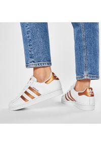 Białe półbuty Adidas z cholewką, na co dzień, casualowe #7