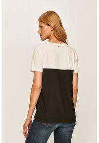 Biała bluzka DKNY z krótkim rękawem, na co dzień, krótka