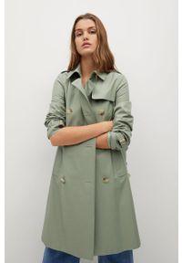 Zielony płaszcz mango na co dzień, casualowy, bez kaptura, gładki #10