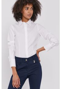 Biała koszula Pennyblack z długim rękawem, klasyczna