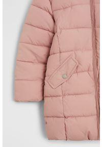 Różowa kurtka Mango Kids na co dzień, casualowa