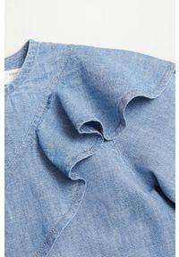 Bluzka Mango Kids z długim rękawem, gładkie, casualowa, długa