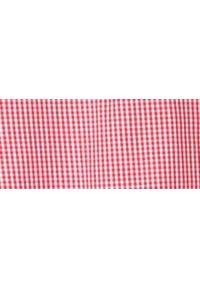 TOP SECRET - Koszula w drobną kratkę slim fit. Okazja: na co dzień. Kolor: czerwony. Materiał: tkanina. Długość rękawa: krótki rękaw. Długość: długie. Wzór: kratka. Sezon: wiosna, lato. Styl: klasyczny, casual