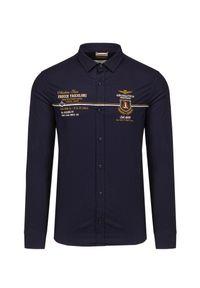 Aeronautica Militare - Koszula AERONAUTICA MILITARE. Materiał: bawełna, tkanina, elastan. Wzór: moro. Styl: militarny