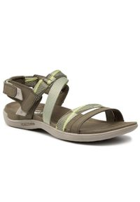 Zielone sandały Merrell casualowe, na co dzień