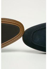 Aldo - Mokasyny zamszowe Ducflex 410. Nosek buta: okrągły. Kolor: niebieski. Materiał: zamsz