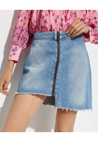 ONETEASPOON - Spódnica jeansowa Vixen. Kolor: niebieski. Materiał: jeans. Wzór: aplikacja. Sezon: lato