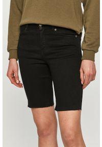 Dr. Denim - Szorty jeansowe. Kolor: czarny. Materiał: jeans, denim