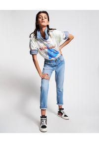 ONETEASPOON - Jeansy Awesome Baggies High Waist - Limitowana Edycja. Stan: podwyższony. Kolor: niebieski. Materiał: jeans. Wzór: aplikacja