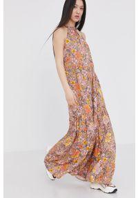 Wielokolorowa sukienka Answear Lab maxi, prosta, bez rękawów, wakacyjna