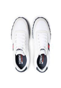 Tommy Jeans Sneakersy Low Profile Mix Runner Retro EM0EM00613 Biały. Kolor: biały