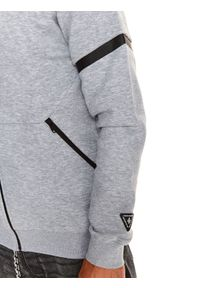 TOP SECRET - Bluza rozpinana męska kangurka, rozpinana. Kolor: szary