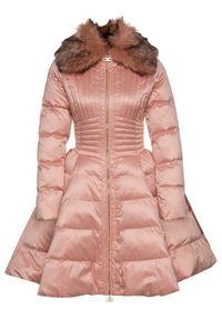 Różowy płaszcz zimowy Elisabetta Franchi