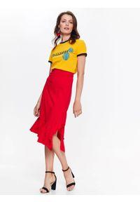 Czerwona spódnica TOP SECRET casualowa, na co dzień