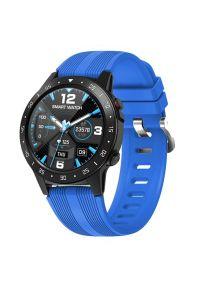 Niebieski zegarek GARETT sportowy, smartwatch