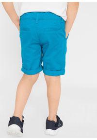 Bermudy z wywijanymi nogawkami bonprix niebieski capri. Kolor: niebieski