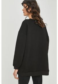 Czarna bluza Answear Lab z aplikacjami, bez kaptura
