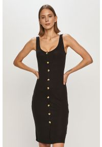 Czarna sukienka Brave Soul na ramiączkach, gładkie, prosta, na co dzień