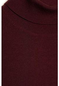 Brązowy sweter Mango Man z golfem, długi