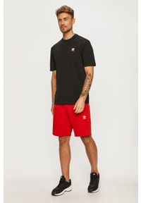 Czerwone szorty adidas Originals casualowe, gładkie, na co dzień