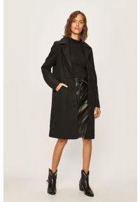 Czarny płaszcz Noisy may bez kaptura, casualowy, na co dzień