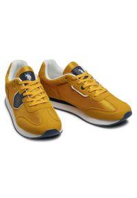 U.S. Polo Assn - Sneakersy U.S. POLO ASSN. - Nobil NOBIL4116S1/TH1 Ocra. Okazja: na co dzień. Kolor: żółty. Materiał: skóra, skóra ekologiczna, materiał. Szerokość cholewki: normalna. Styl: klasyczny, sportowy, elegancki, casual