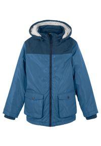 Niebieski płaszcz bonprix na zimę