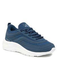 Kappa - Sneakersy KAPPA - Squince 242842 Navy/White 6710. Okazja: na spacer, na co dzień. Kolor: niebieski. Materiał: materiał. Szerokość cholewki: normalna. Sezon: lato. Styl: casual