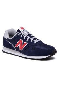 New Balance - Sneakersy NEW BALANCE - ML373CS2 Granatowy. Kolor: niebieski. Materiał: materiał, zamsz, skóra. Szerokość cholewki: normalna