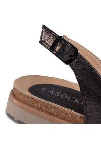 Szare sandały Lasocki na co dzień, casualowe