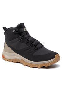 Czarne buty trekkingowe salomon vintage, z cholewką
