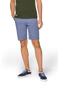 Lancerto - Szorty Niebieskie Mauritius. Kolor: niebieski. Materiał: materiał, tkanina, bawełna, elastan. Sezon: lato. Styl: sportowy