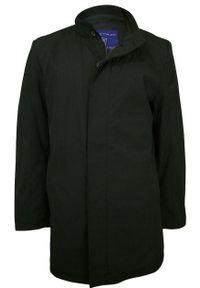 Czarna kurtka Gustaff na jesień, elegancka, ze stójką