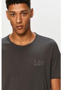 Szary t-shirt Lee gładki