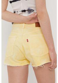 Levi's® - Levi's - Szorty jeansowe. Okazja: na co dzień, na spotkanie biznesowe. Kolor: żółty. Materiał: jeans. Wzór: gładki. Styl: casual, biznesowy