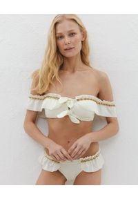 LILY&ROSE - Białe bikini Maki. Kolor: biały. Materiał: materiał. Wzór: aplikacja