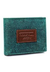 FOREVER YOUNG - Portfel męski zielony Forever Young N951-VTP GREEN. Kolor: zielony. Materiał: skóra. Wzór: kolorowy