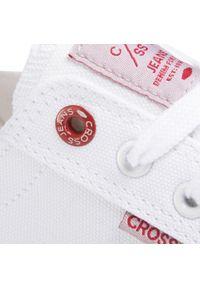 Białe półbuty Cross Jeans z cholewką