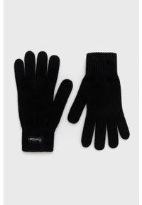 Calvin Klein - Rękawiczki z domieszką wełny. Kolor: czarny. Materiał: wełna