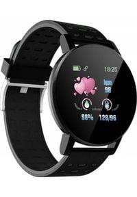 Smartwatch M119 PLUS 119 Plus Czarny (M119 PLUS black). Rodzaj zegarka: smartwatch. Kolor: czarny