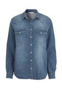 Cellbes Rozciągliwa koszula dżinsowa denim blue female niebieski 46/48. Kolor: niebieski. Materiał: denim