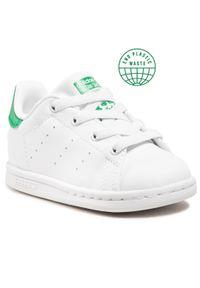 Adidas - Buty adidas - Stan Smith El I FX7528 Ftwwht/Ftwwht/Green. Kolor: biały. Materiał: skóra ekologiczna, skóra. Szerokość cholewki: normalna. Styl: młodzieżowy