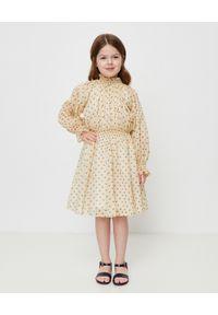 BURBERRY CHILDREN - Sukienka w gwiazdki 6-10 lat. Kolor: brązowy. Materiał: materiał. Długość rękawa: długi rękaw. Wzór: aplikacja. Sezon: lato. Styl: klasyczny