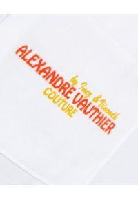 ALEXANDRE VAUTHIER - T-shirt z graficznym nadrukiem. Kolor: biały. Materiał: bawełna. Wzór: nadruk