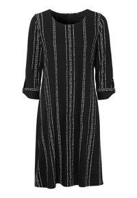 Cellbes Dżersejowa sukienka w paski Czarny w paski female czarny/ze wzorem 42/44. Okazja: na co dzień. Kolor: czarny. Materiał: jersey. Wzór: paski. Styl: elegancki, casual